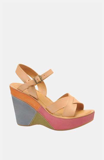 Wow - cool wedges!: Elena Shoes, Colors Sandals, Multicolored Natural, Cute Wedges, Heels Height, Multicolored Korkea, Bette Wedges, Wedges Sandals, Korkea Bette