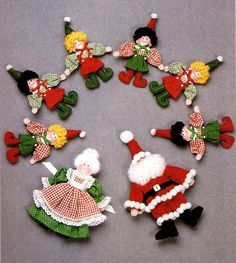 Santa Claus, Mrs. Claus and Elf patterns