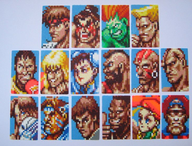 Super Street Fighter 2 - Characters - Perler Bead Sprites by shambles-cyc on deviantART