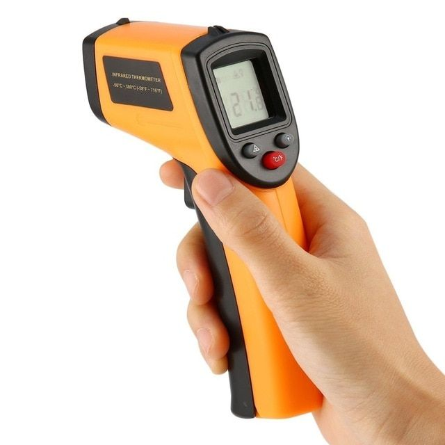 Laser LCD Digital IR Infrared Thermometer Temperature Meter Non Contact Sensor/&~