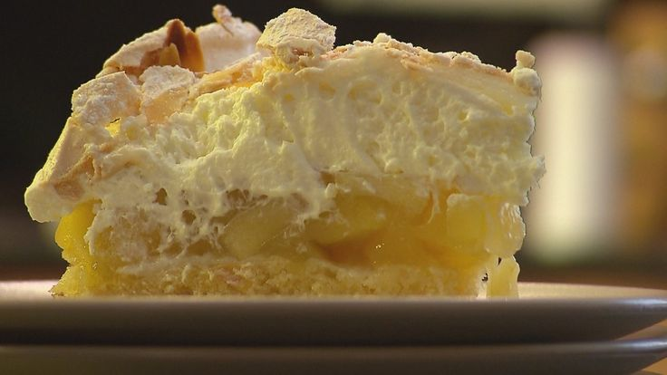 Almás-mandulás habcsók torta