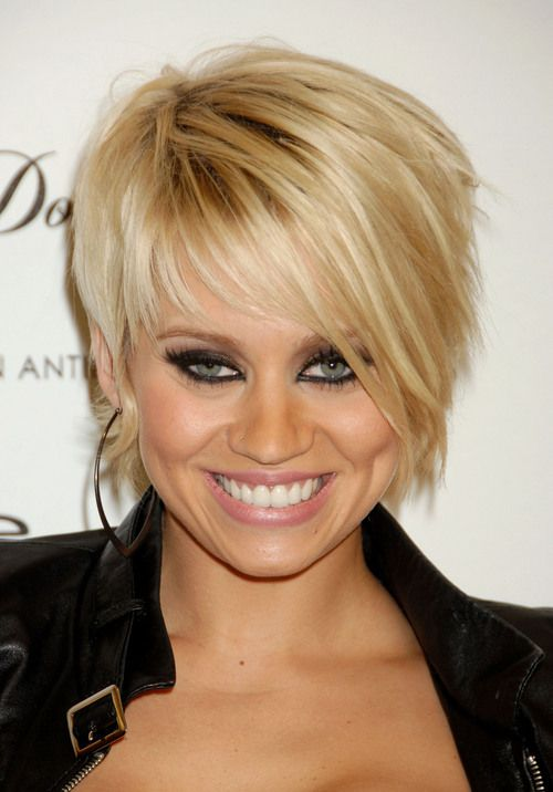Short razor cut like Kimberly Wyatt.