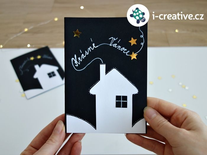 Vánoční přání Tichá noc - video návod krok za krokem