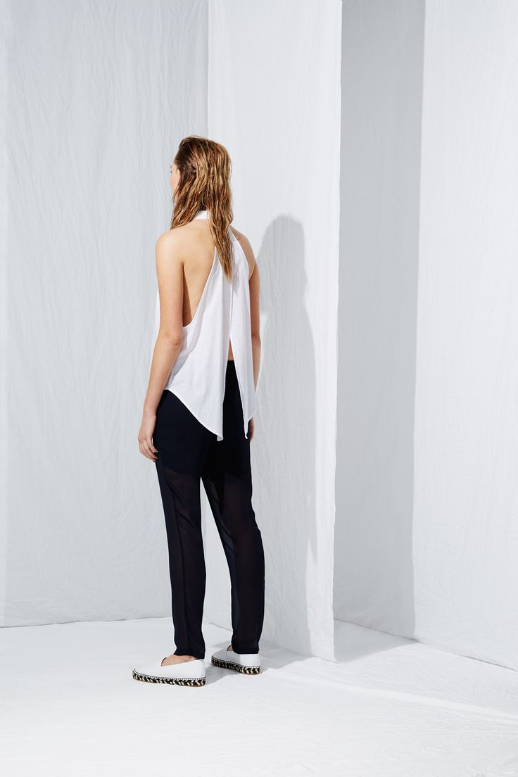 Open Back Sleeveless Shirt from the latest L.W.B. collection by Australian fashion designer LIFEwithBIRD Summer'15