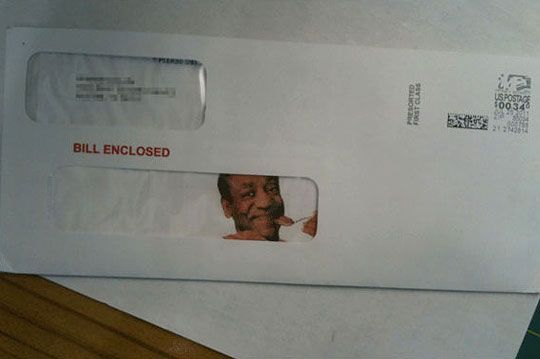 Bill Enclosed: Postal Service, Funny Pictures, Funny Stuff, Funnies, Bill Enclosed, Funnystuff, Bill Cosby, Pictures Day, Funny Puns