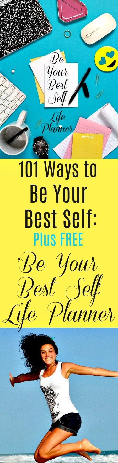 101 Ways to Be Your Best Self Plus FREE 'Be Your Best Self' Life Planner: Personal development helps you grow, achieve your goals and live a long, happy life. It is the foundation of physical, emotional, intellectual and spiritual health. Personal growth is in your hands. Your FREE, Printable 'Be Your Best Self'' Life Planner provides you with 365 days of pages to focus on -- and keep track of -- your personal growth and development. #personalgrowth #change #growth #personaldevelopment…