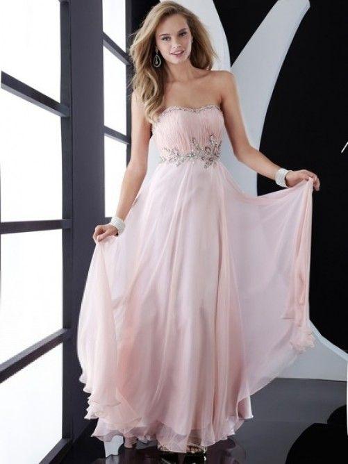 A-line Sweetheart Sleeveless Beading Floor-length Chiffon Prom Dresses Market Price: AU$489.39 Missy Price: AU$140.28