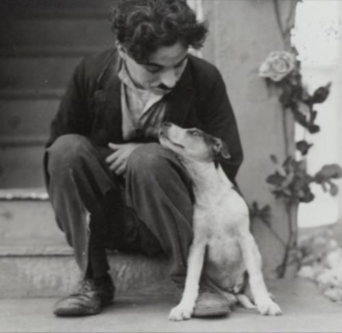 charlie chaplin and friend