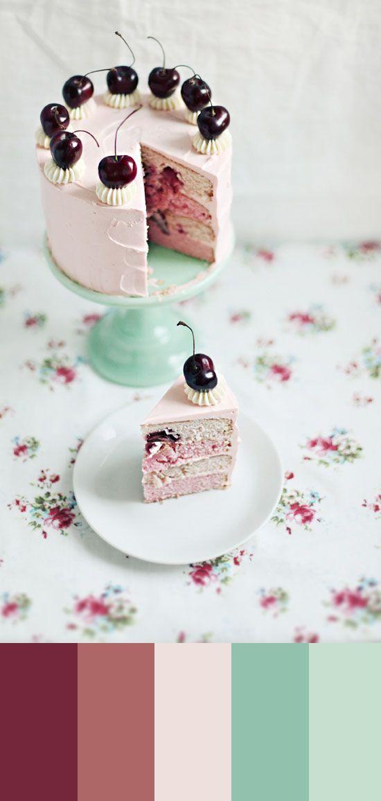 Farbe Study, Kirsche geschichteten Kuchen, 47