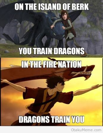 How To Train Your Dragon and Avatar the Last Airbender Crossover Zuko and Hiccup