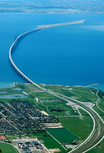 ˚The Oresund Bridge - Denmark, Sweden