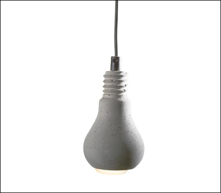 Hanglampje beton