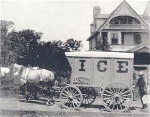 An ice delivery wagon & 82 best Iceboxes images on Pinterest | Ice houses Grant wood and ... Aboutintivar.Com