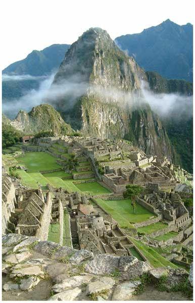 Machu Picchu Inca Ruins Andes Mountains Peru Travel Poster 11x17