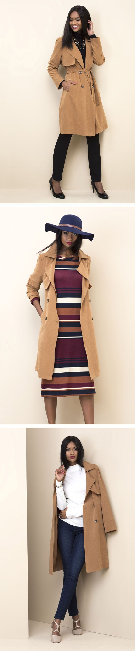 #miladys3ways The versatile trench: The trench makes layering easy (it pairs with everything).