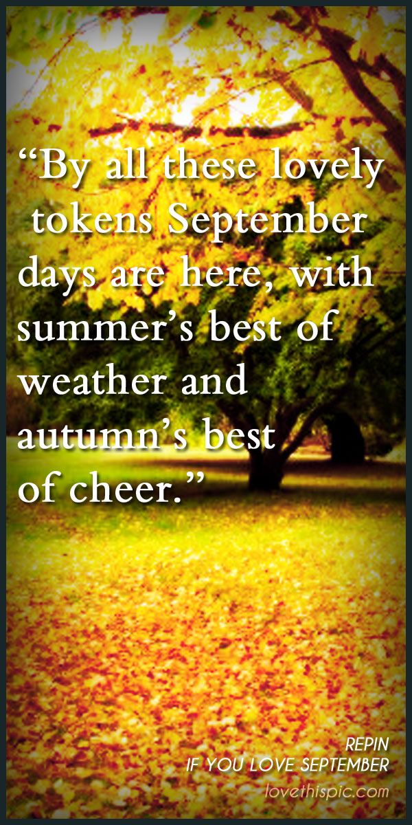 September quotes quote autumn fall leaf pinterest