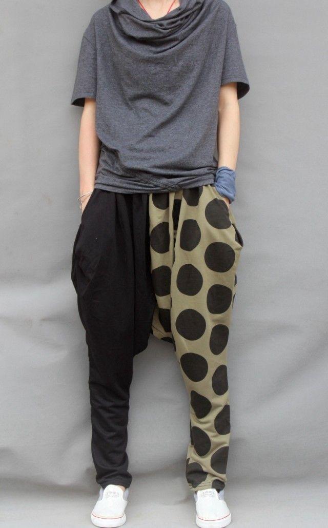 Plus size 2013 mens novelty dress harem hip hop pants loose casual pants sports trousers dance harem sweatpants-inPants from Apparel & Acces...