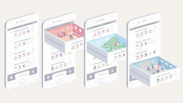 Commissioned Animation for an app - I can't share the name of company yet! Project : http://guillaumekurkdjian.com/phone-rooms/