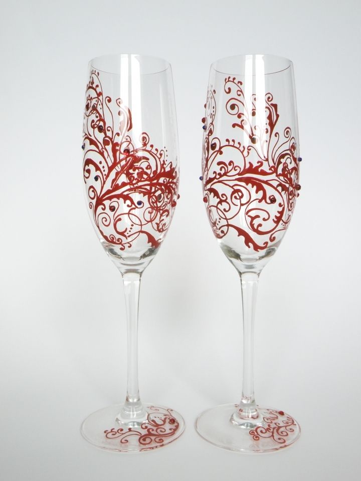 25 Best Ideas About Painted Champagne Flutes On Pinterest