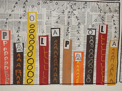 LETTERKUNST: letters zoeken - letters plakken - letters stempelen en letters…
