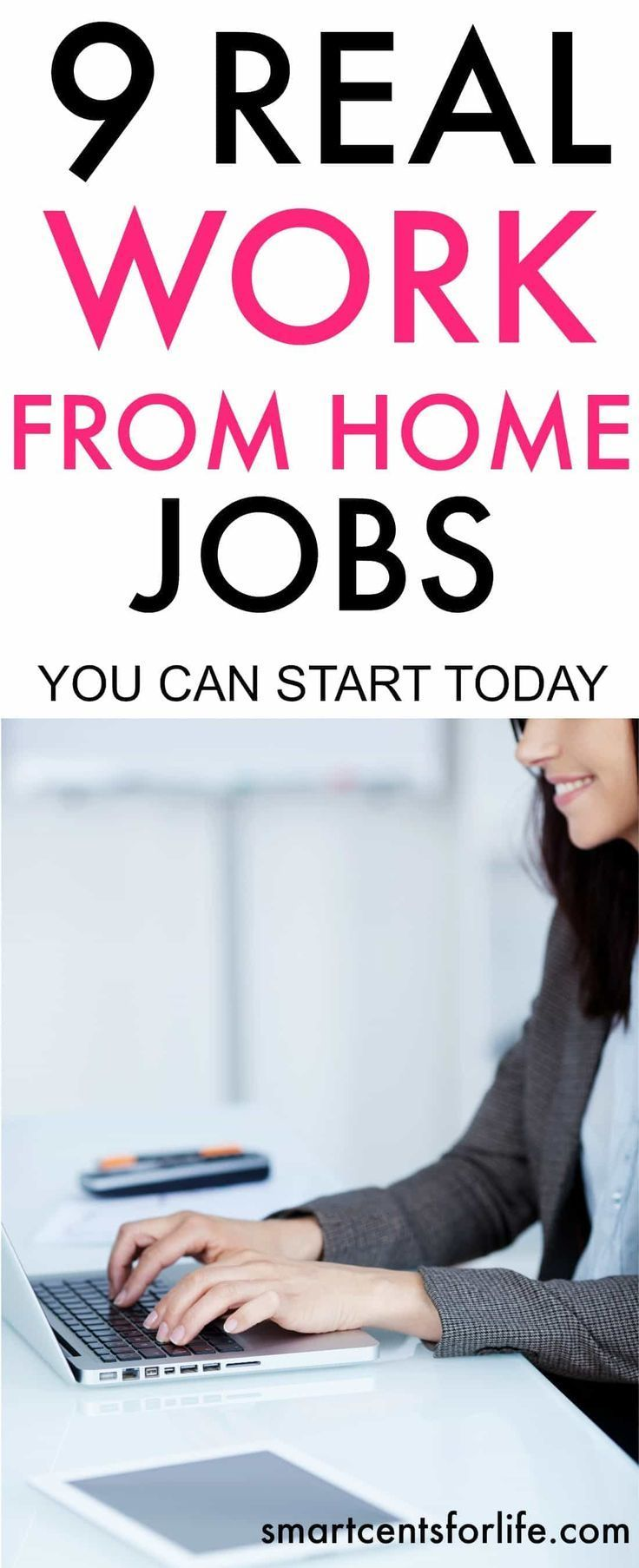 Check out this list of 9 legitimate work from home jobs that you can start today and with no experience at all! These work from home ideas are perfect for moms, college students, stay at home parents or anyone trying to find a job that pays well. There are many opportunities to start working from home and make money. Work from Home Jobs for Moms | Make Extra Money | Career | Business from Home Ideas | Work From Home Online Jobs #workfromhome #makemoney #moneymakingideas