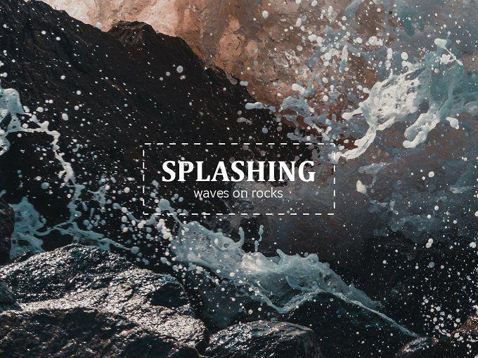 Splashing waves photo-pack by outlinez on @creativemarket
