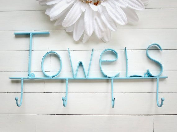 Aquamarine Pool Sign / Towel Holder / Pool Decor / от WillowsGrace, $27.00