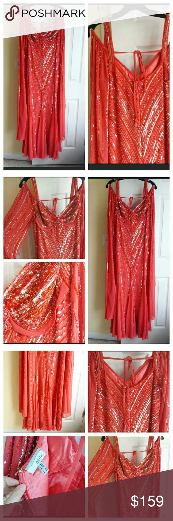 Coral Formal Dress Additional Photos Additional photos See other Listing. Heine Dresses Prom