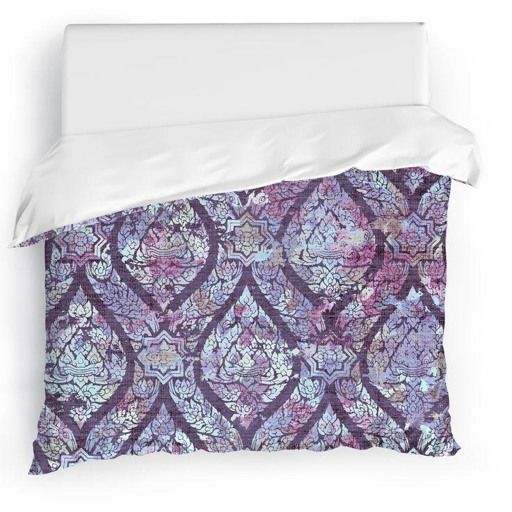 Rain Purple Duvet Cover