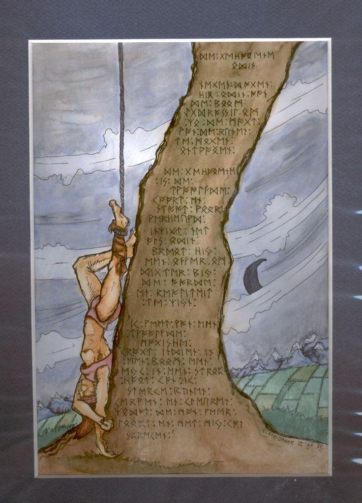 The Hanged Man Predictive Tarot Card Meanings: Hanged_Man_Odin___BraveAnimal_by_Shadow_of_Yggdrasil.jpg