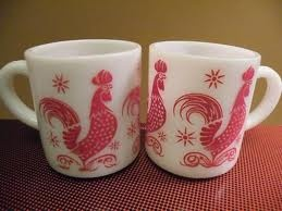 Red vintage coffee cups!