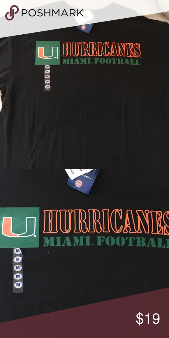 Miami Hurricanes Football Men's T-shirt Brand new with tags men's medium Canes Tshirt Champs Shirts Tees - Short Sleeve