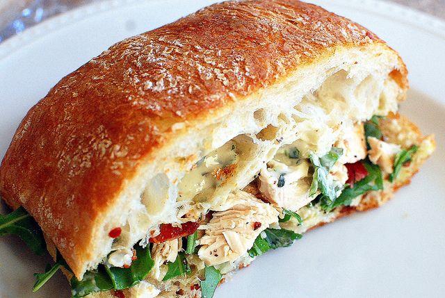 chicken Caesar club sandwhiches by Pink Parsley Blog, via Flickr