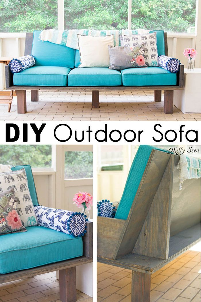 Build a DIY outdoor sofa from plywood and dimensional lumber; modern minimalist designer lines on a budget.
