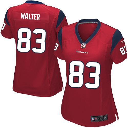 Kevin Walter Jersey Houston Texans #83 Women Limited Jersey Red Nike NFL Jersey Sale