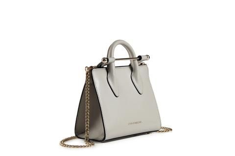 The Strathberry Nano Tote - Pearl Grey