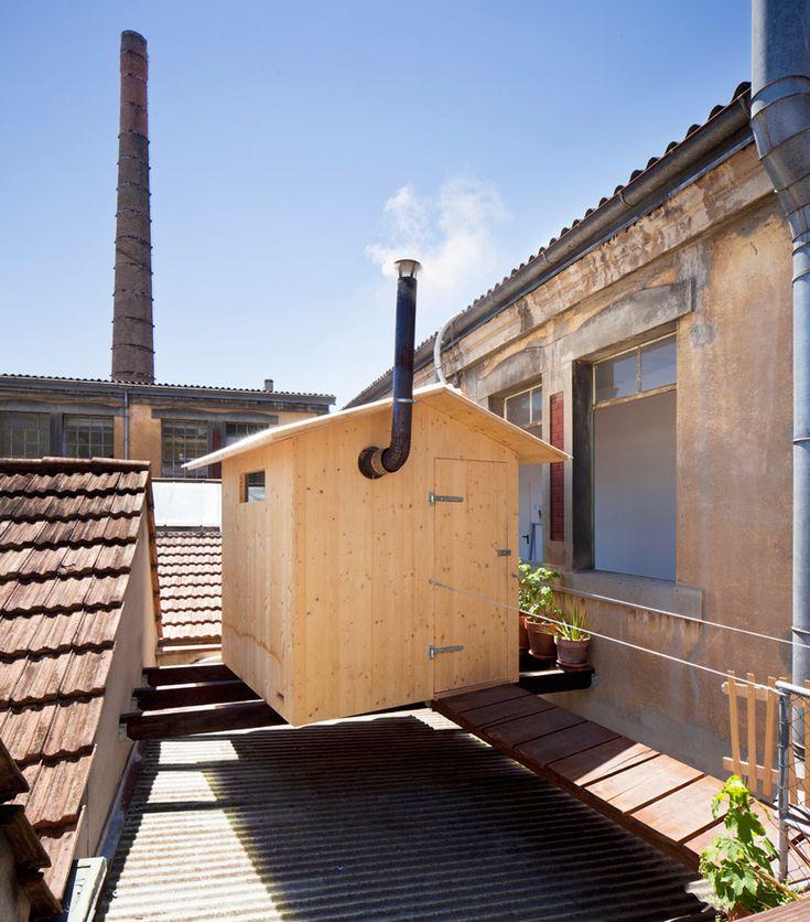 BUREAU A + jérémie gindre: rooftop sauna in geneva - designboom | architecture & design magazine
