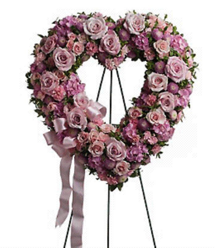 Fresh flower pink heart standing sprays