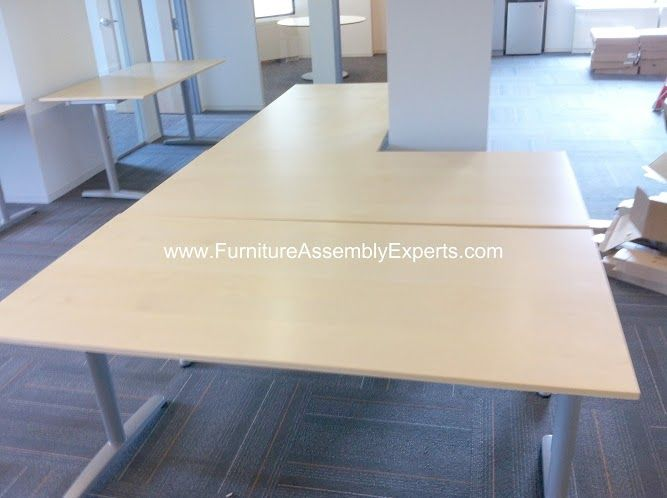 Ikea Galant Office Desks Assembled In Washington DC By Furniture Assembly Experts Llc