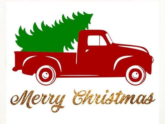 Red Truck Svg Png Dxf Merry Christmas Svg Christmas Tree Etsy In 2020 Christmas Svg Christmas Red Truck Christmas Truck