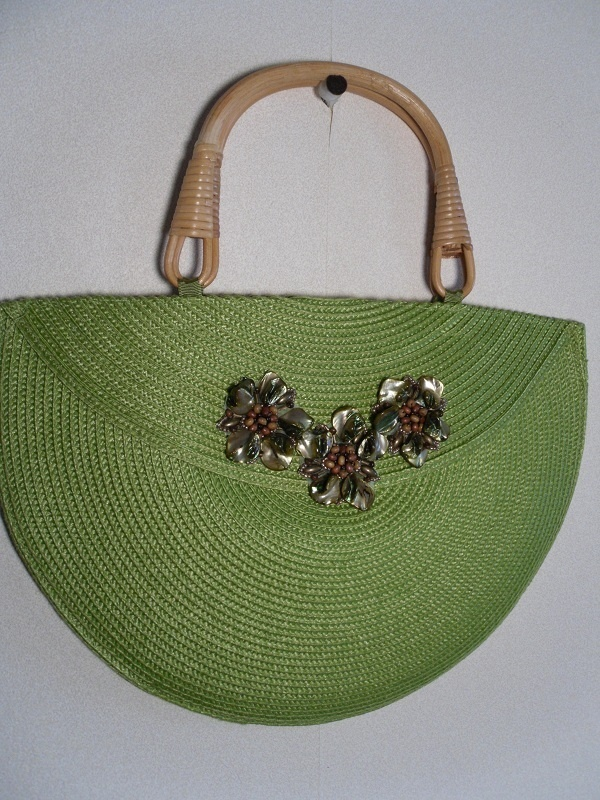 placemat purse from two round placemats