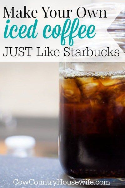 Make Your Own Iced Coffee Just Like Starbucks. Love Starbucks coffee but hate the price tag? Make your own iced coffee JUST like they do and…