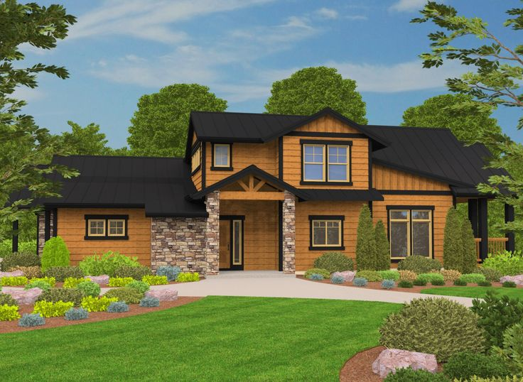 <ul><li>This 3 bed house plan has a Craftsman lodge exterior and is comfortable in any setting.</li><li>A covered entry takes you to the foyer. On the left is a self sufficient space we are calling the casita. This flexible room is perfect as an office, studio, or guest suite.</li><li>In the main portion of the first floor you find the vaulted great room with an ooverlook loft above. The back wall can be opened to the vaulted outdoor living room giving you a much larger space to entertain…