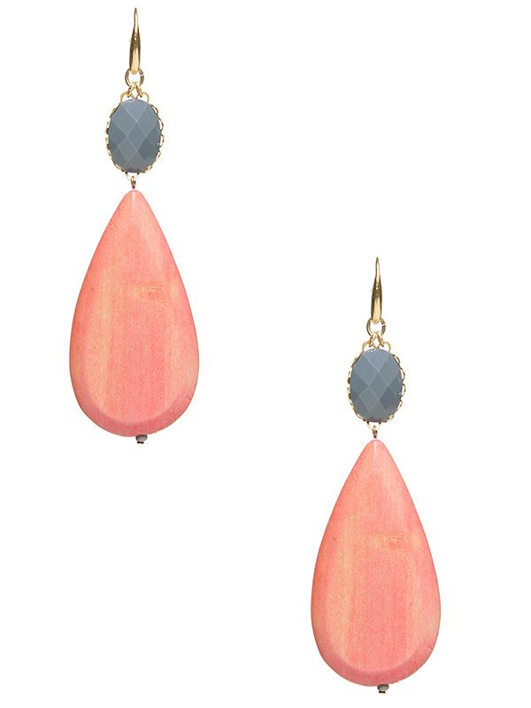 .: Coral, Teardrop Earrings, Color Combos, Grey So Pretty, Style, Greyso Pretty, Wedding Colors Combos, 201 653, Fish Hooks Earrings
