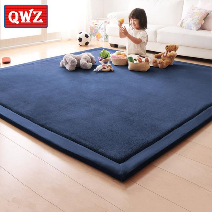 QWZ New Thick Play Mats Coral Fleece Blanket Carpet Children Baby Crawling Tatami Mats Cushion Mattress For Bedroom Game Mat