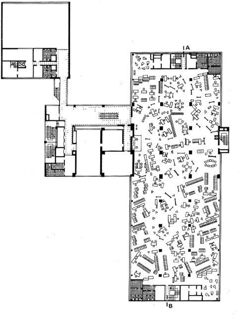 nrqarq:  OTTO WUNSCH AND OTTO MOLLENHAUER OFFICE BUILDING FOR THE VERWALTUNGS-BERUFSGENOSSENSCHAFT, KAPSTADTRING/ÜBERSEERING HAMBURG CITY NORD, 1963-1966, DEMOLISHED 2004