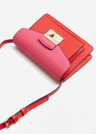 Contrast cross-body bag | MANGO
