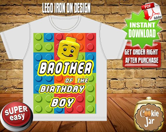 Lego Iron On design Printable Lego t-shirt by THECOOKIEJARDESIGNS