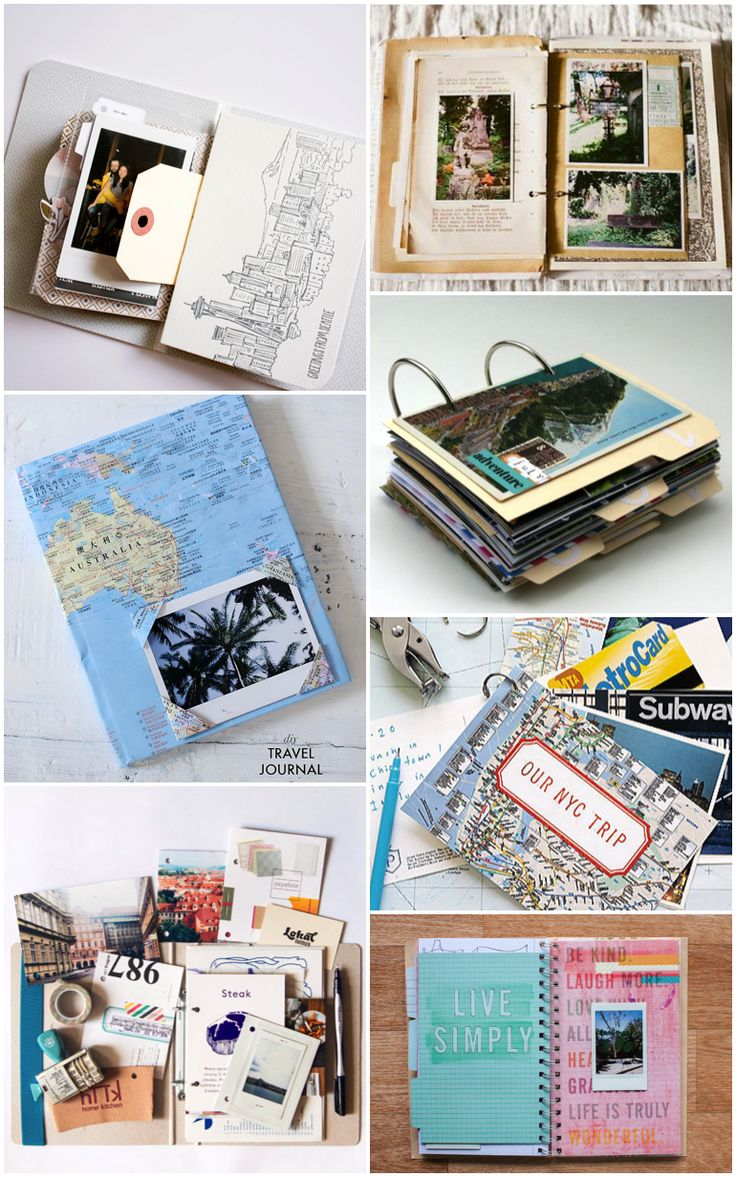 Travel Journal inspiration                                                                                                                                                                               (Diy Cuadernos)