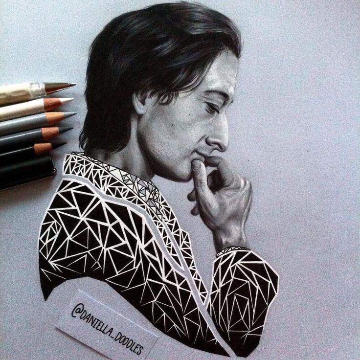 Portrait of Adrien Brody by Daniella Attfield